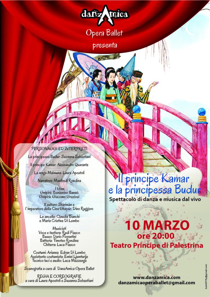 Nuovo spettacolo della compagnia Danzamica Opera Ballet, Il principe kamar e la principessa Budur.